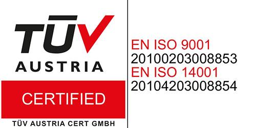 TUV Austria certifikat za Oprema Vrbovec d.o.o.