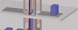 Shematski prikaz mogućnosti kombinacije podizne platforme s horizontalnim transporterima
